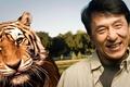 Картинка радость, тигр, улыбка, хищник, актер, знаменитость, режиссер, Джеки Чан, каскадер, Jackie Chan, китаец