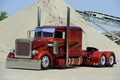 Картинка Truck, Customize, Peterbilt, Silver, Orange, Brown