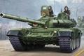 Картинка защита, пушки, арт, художник, танк, СССР, Россия, установка, калибр, ОБТ, Т-72, контакт, вариант, Т-72А, 125-мм, ...