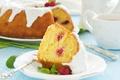 Картинка Kugelhopf raspberry ice, Kugelhopf с малиной и обледенения, сладость, cakes, sweets, выпечка