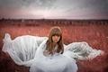 Картинка девочка, little girl, поле, платье