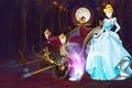 Картинка Cinderella, Disney, сияние, тыквы, Хэллоуин, карета, сумерки, Дисней, хрустальная туфелька, Золушка, special edition, платье, сказка