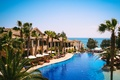Картинка море, пальмы, вид, бассейн, курорт, Кипр