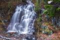 Картинка камни, поток, водопад, деревья, река, лес, брызги