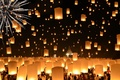 Картинка Thailand, Loi Krathong Festival, Floating Lanterns