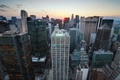 Картинка nyc, Midtown Manhattan, New York City, usa, нью-йорк, Sunset over, закат