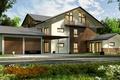 Картинка дизайн, особняк, деревья, дорога, дом, 3D
