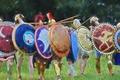 Картинка воины, щиты, строй, гоплиты