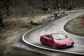 Картинка скорость, McLaren MP4-12C, дорога, размытие, поворот, спорткар