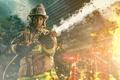 Картинка firefighter, пожарный, огонь