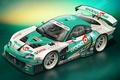 Картинка race car, арт, супра, Supra, Toyota, тойота