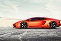 Картинка ламборгини, orange, car, dejan sokolovski photography, lamborghini aventador, автообои, lp700-4supercar