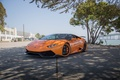 Картинка tuning, lamborghini, face, sea, wheels, LB724, italy, power, front, orange, huracan