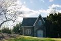 Картинка дом, небо, природа, дверь, крыша, облака, окна