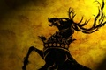 Картинка symbol house, GOT, crown, TV series, medieval, War of the Five Kings, horns, Westeros, animal, ...