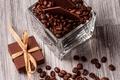Картинка шоколад, зерна, вафли, кофе, beans, coffee