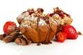 Картинка fruit, strawberry, cream, food, сладкое, chocolate, sweet, фрукты, крем, шоколад, еда, клубника