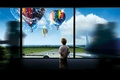 Картинка Малыш, диспетчерская, окна, аэродром, самолёт