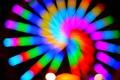 Картинка цвет, блик, свет, спираль, огни
