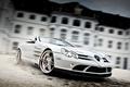 Картинка Brabus exclusive sport program, mercedes-benz slr roadster mclaren, white auto