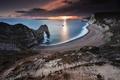 Картинка море, берег, закат