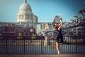 Картинка на фоне города, танец, Лондон, балерина, Eponine Bougot