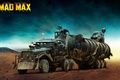 Картинка грузовик, the war rig, черепа, постапокалипсис, Безумный Макс: Дорога ярости, пустыня, Mad Max: Fury Road