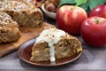 Картинка яблочный, орехи, яблоки, пирог, выпечка