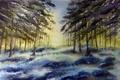 Картинка картина, акварель, природа