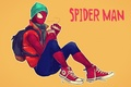 Картинка шапка, кофе, рюкзак, кроссовки, Marvel Comics, Spider-Man, Peter Parker