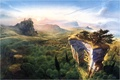 Картинка Фентези, врата, путешествие, приключения, горы, море