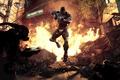 Картинка Crysis 2, кризис 2, оружие, бойня, стрельба, город, огонь