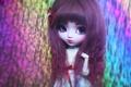 Картинка большие, глаза, лицо, челка, кукла