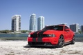 Картинка mustang, red, ford, beach, miami