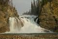 Картинка Fort Halkett Provincial Park, водопад, British Columbia, Canada, Smith River Falls, поток, скалы, Канада