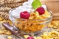 Картинка малина, raspberry, пшеница, крем, завтрак, breakfast, хлопья
