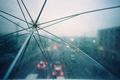 Картинка Зонтик, капли, дождь, огни