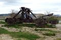 Картинка деревянная, катапульта, catapulta, античная, торсионного действия для метания камней, двухплечевая машина