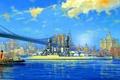 Картинка корабль, арт, флот, американский, военный, линкор, USS, battleship, WW2, West Virginia