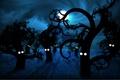 Картинка луна, рисунок, небо, синий