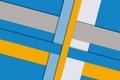 Картинка desing, белый, линии, color, material, геометрия, голубой, желтый