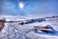 Картинка зима, лучи, снег, Winter, скамья, Snow, Bench, Rays