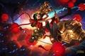 Картинка взрывы, ракета, фонари, пулемет, jinx, Lol, год козы, League og legends, пиротехник