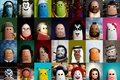 Картинка пальцы, кукла, арт, Шерлок Холмс, гейша, Гитлер, Человек-паук, Макдональдс, шейх, Микки Маус, Че Гевара, Шрек, ...