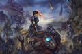 Картинка Mass Effect 3, invasion, Reaper, salarian, husks, brute, banshee, cannibals