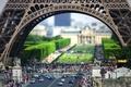 Картинка люди, улица, эйфелева башня, париж, франция, европа, пешеходы