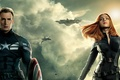 Картинка Scarlett Johansson, Girl, Action, Red, Men, Guns, Marvel, Captain America, Black Widow, Battleship, Natasha Romanoff, ...