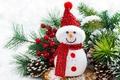 Картинка tree, Christmas, snowman, decoration