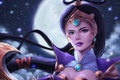 Картинка луна, взгляд, lol, арт, Diana, League of Legends