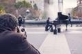 Картинка park, photographer, piano, fountain